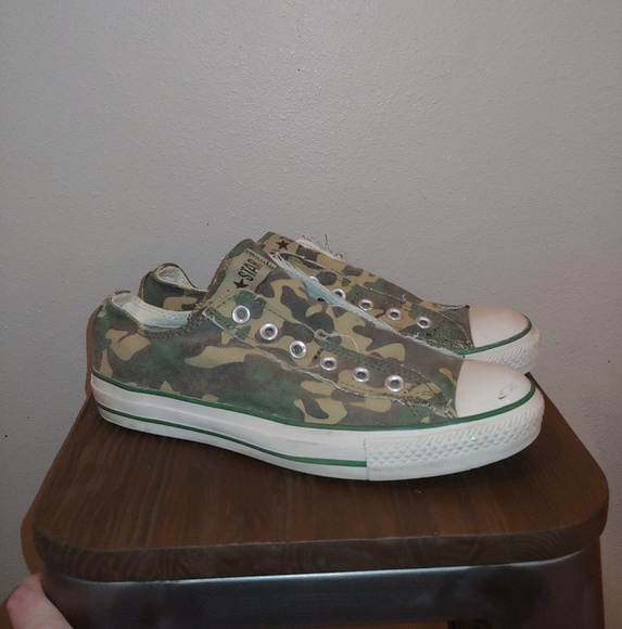 7dfb81fa17fea Converse Shoes | All Star Slip On Chuck Camo No Lace | Poshmark